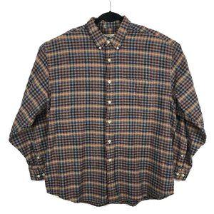 Eddie Bauer Multicolor Plaid Flannel Button Shirt